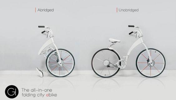 Gi Bike la bicicleta eléctrica plegable http://buenespacio.es/gi-bike-la-bicicleta-electrica-plegable.html #ebike #bici #plegable #urbana