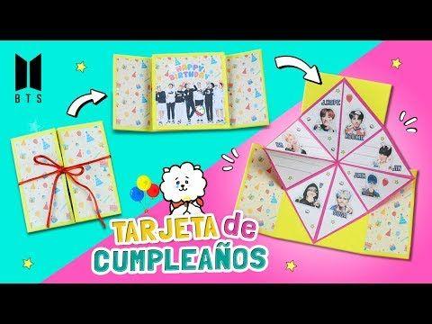 Diy Kpop Haz Una Tarjeta De Cumpleaños De Bts Regalo