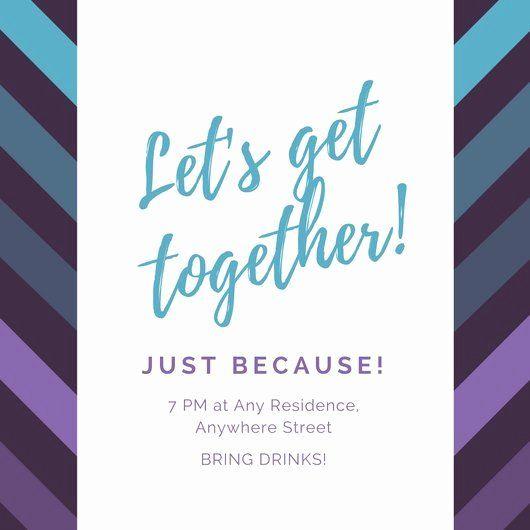 Family Get Together Invitation Best Of Violet And Blue Diagonal Lines In 2020 Sample Wedding Invitation Wording Family Reunion Invitations Templates Invitation Wording