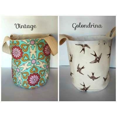 Cestos o canastos de tela para el ba o y lavadero - Cestos de tela ...