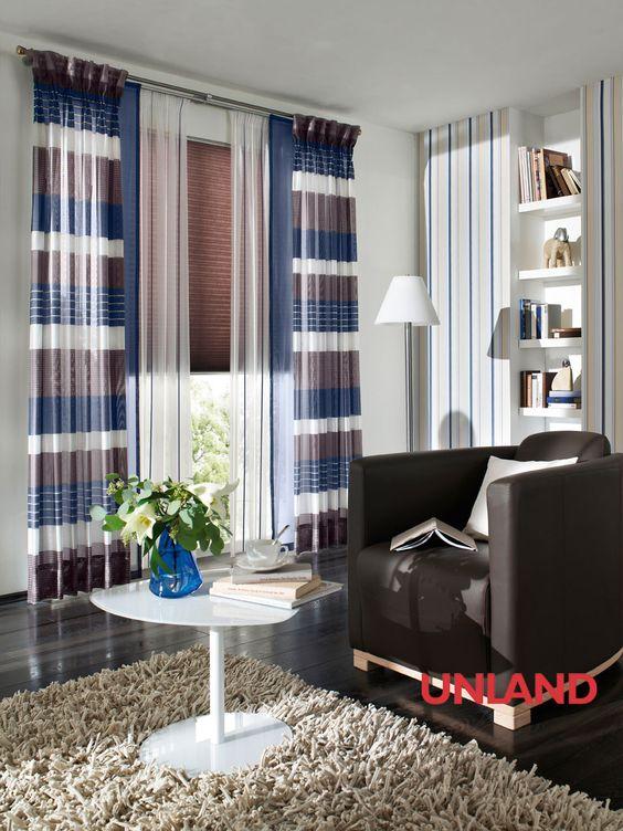 Unland Ocean, Fensterideen, Vorhang, Gardinen und Sonnenschutz - curtains, contract fabrics, pleated blinds, roller blinds and more. Made in Germany