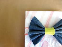Image result for gift wrapping with denim