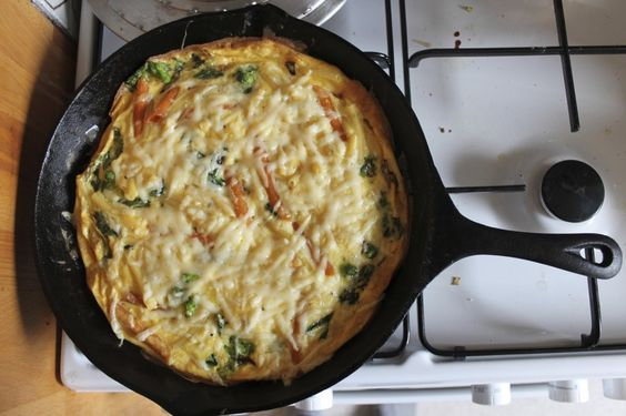 Frittata with Broccoli Rabe, Sausage, Cheese and Pasta (Berlin, March ...