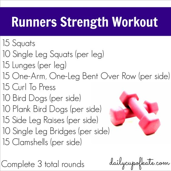 Strength training moves for runners work it out