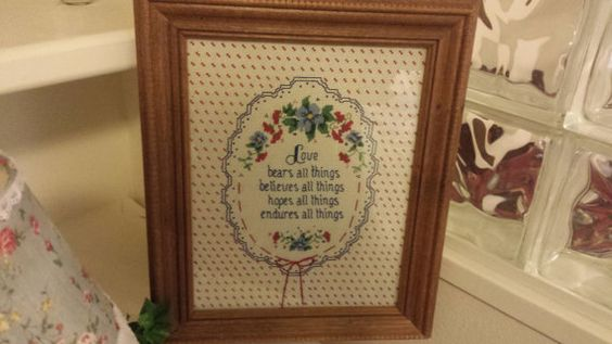 Love Cross Stitched Art by ShelleysHeart on Etsy