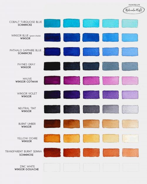 Best Watercolor Paints For Modern Watercolor Watercolor Pallet