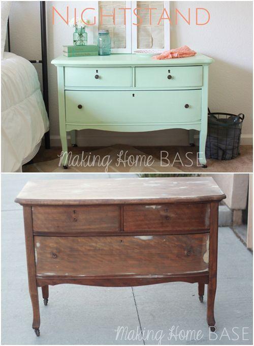 20 ideas para pintar muebles de madera antiguos a todo color 21 - muebles reciclados