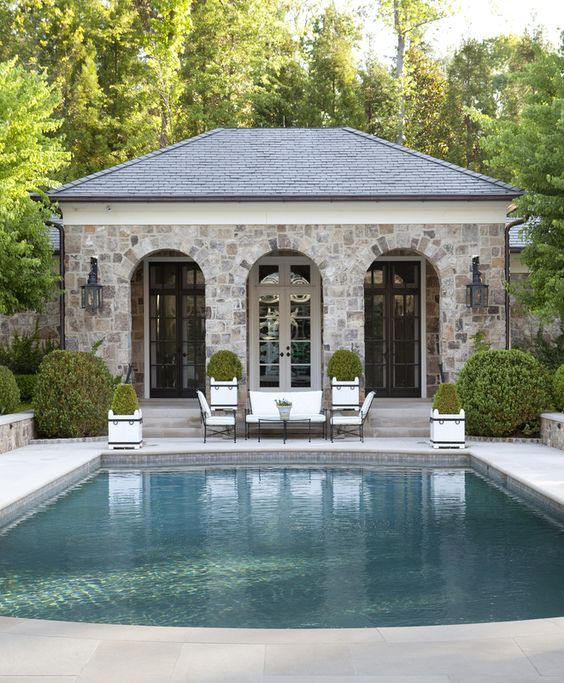 Gardens pool houses and beautiful on pinterest for Pool garden house
