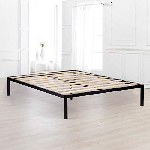 Bed Frame Metal Platform Bed Queen Mattress Foundation Heavy Duty