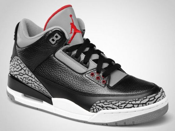 Air Jordan 3 Black/Cement..... it's [all AJ3's] getting retired for a minute (as of 8/28/2014).