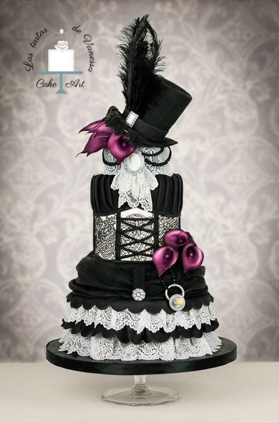 Vintage dress  by Vanessa Rodríguez - http://cakesdecor.com/cakes/254162-vintage-dress