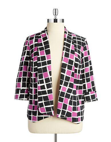 Nipon Boutique Plus Shawl Collar Blazer Women's Orchid Multi 20W