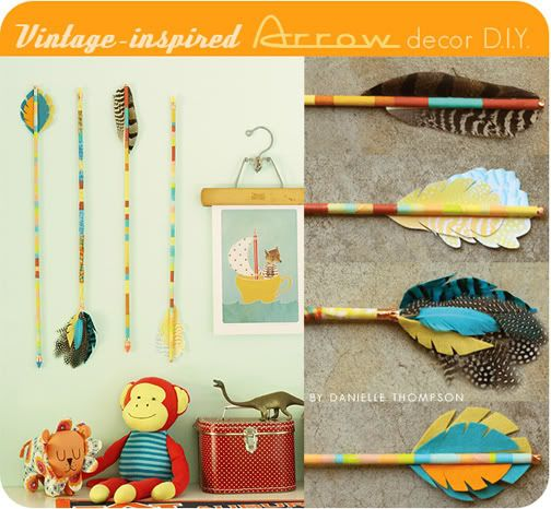 DIY vintage inspired arrow decor  Vintage inspired Boys and Wall decorations  on Pinterest. Vintage Diy Decor