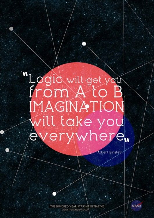 """""""Logic will get you from A to B. Imagination will take you everywhere.""""~ Albert Einstein"""