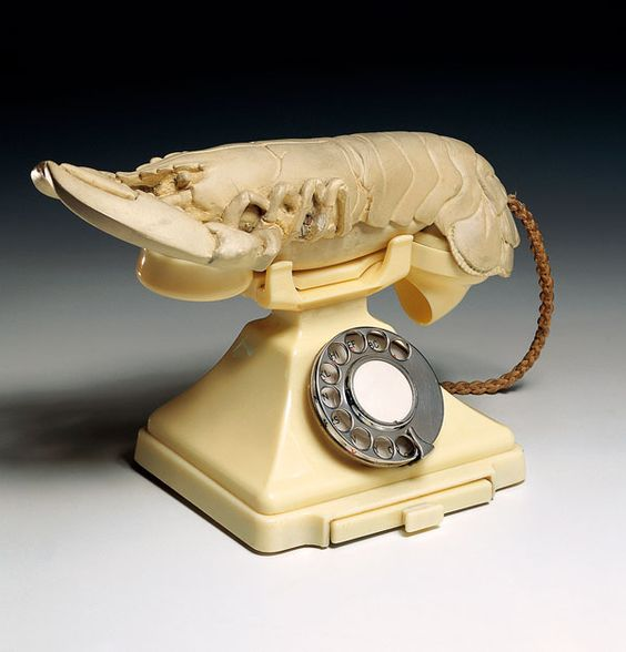 Salvador Dalí, White Aphrodisiac Telephone, 1936, Museu Colecção Berardo, Modern and Contemporary Art Collection, Lissabon, © Salvador Dalí, Gala-Salvador Dalí Foundation/BUS, Stockholm 2009.