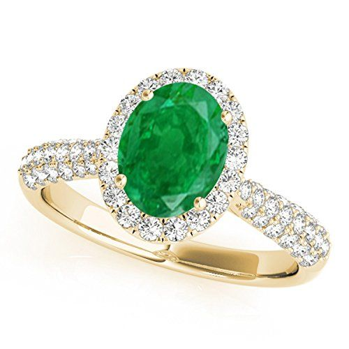14k Yellow Gold 3mm Emerald Birthstone Baby Solitaire Ring Fine Jewelry Ideal Gifts For Women