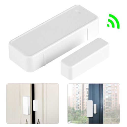 6 05 433mhz Wireless Door Magnetic Detecting Contact Switch For Garage Alarm Security Home Security Alarm System Alarm Systems For Home Home Alarm