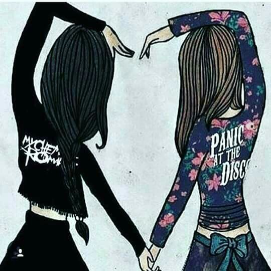 This is so my friend and I, she wears black and likes metalcore, but she's still unicorns and rainbows while I'm dark to the core.<< I'm the unicorn lover in my friendship