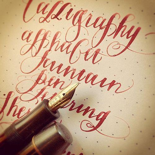 Calligraphy practice.