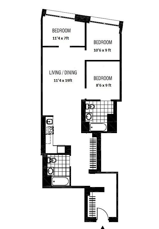 3 Bedrooms 2 Bathrooms Apartment For Sale In Financial District Apartments For Rent Apartments For Sale New York Apartments