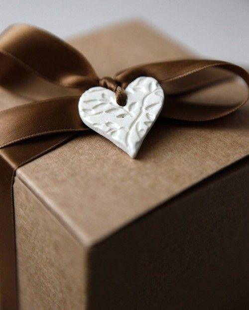 clay heart tag