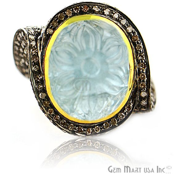 Labour D 5% Victorian Estate Ring 14.45 cts by GemMartUSA on Etsy