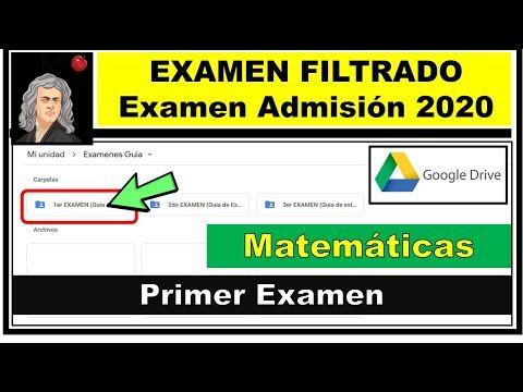 Examen De Admision Exani Ii Filtrado Examen 1 Parte 1 Examen De Admision 2020 Youtube Examen Matematicas Youtube