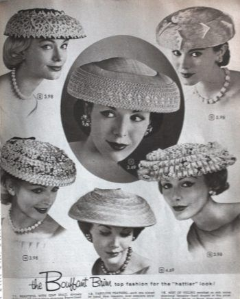 1950s Womens Hats By Style Hats For Women Retro Hats 1950s Hats