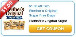 $1.00 off Two Werther's Original Sugar Free Bags - Deals at Walgreens & CVS pop up often :)