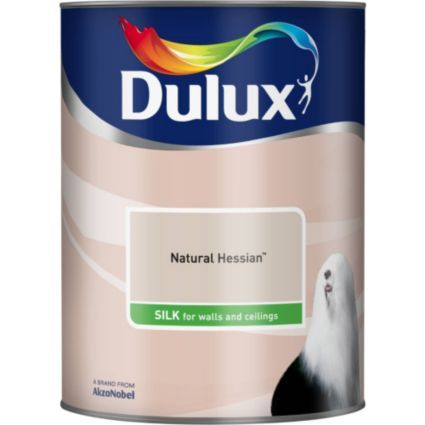Dulux Silk Natural Hessian Emulsion Paint 5L: Image 2