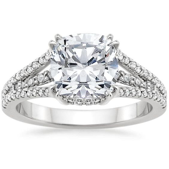 18K White Gold Riviera Diamond Ring from Brilliant Earth