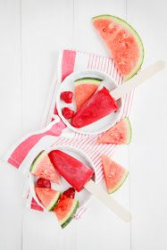 Watermelon Strawberry Rosewater Ice Cream Popsicles Recipe