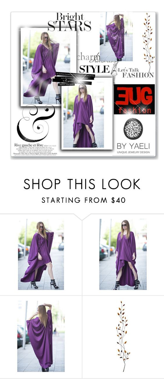 """Purple Chiffon Summer Long Kaftan Dress by EUGfashion"" by eug-fashion ❤ liked on Polyvore featuring Pier 1 Imports and EUGfashion"