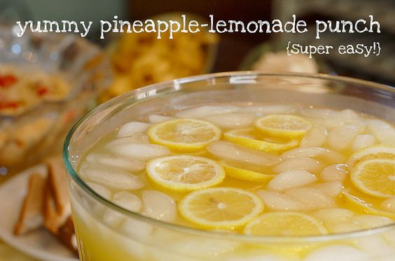 Pineapple-lemonade punch