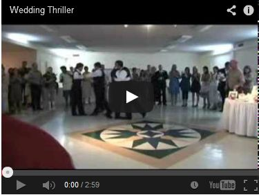 Wedding Reception Thriller Dance