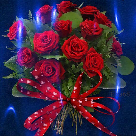 Imagenes Gifs: Ramo de Rosas Brillante: