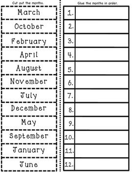 ESL Months of the Year Vocabulary Cards and Worksheet Activities ...