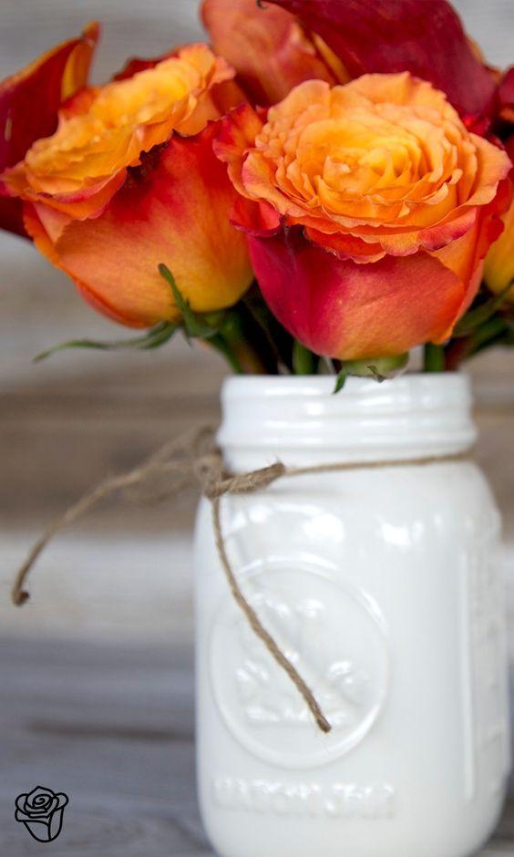 painted mason jars //