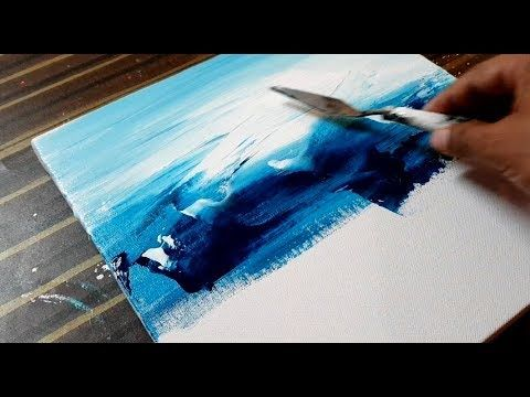 Making Of Easy Abstract Painting Landscape Acrylics Project