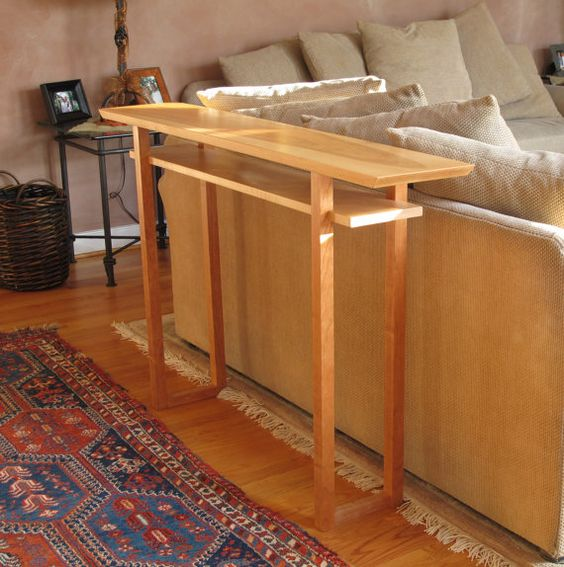 Narrow Foyer Furniture : Handmade narrow wood sofa table console hall