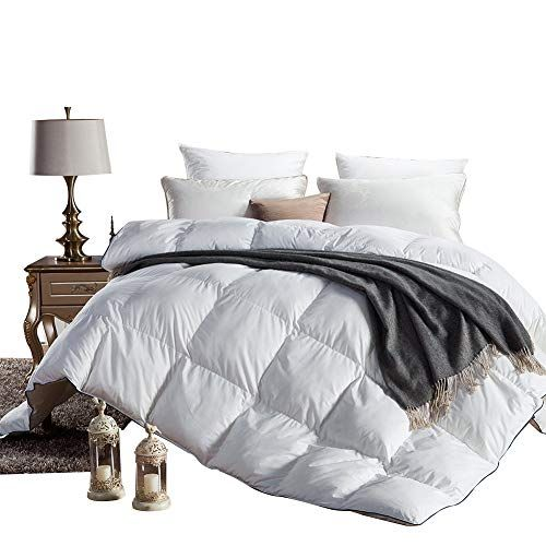 Albad Duvet White Goose Down Duvet 100 Cotton Comforter Cover Soft Warmth Winter Bed Goose Down Quilt Hypoa Down Comforter King Comforter White Down Comforter