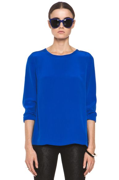 EQUIPMENT  Liam Tee in Regal Blue. Loving the vibrant blues this year!