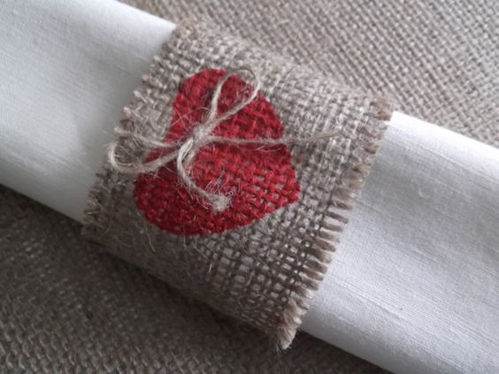 Set of 10 burlap napkin rings  for wedding by onlyjuteboutique, $19.25
