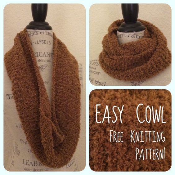Cowl Knitting Pattern For Beginners : Cleo cowl beginner knitting pattern warm teak and plush