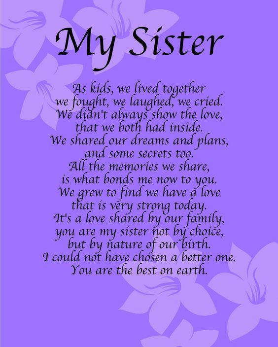 sister poem ~
