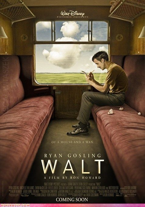 Ryan Gosling as Walt Disney? If this is real I want to see it (: