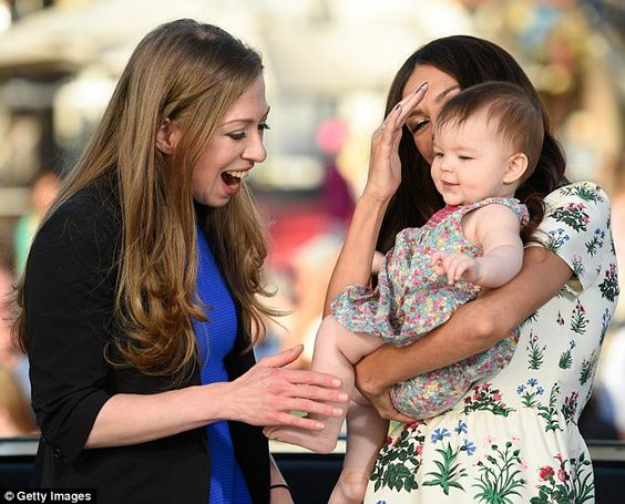 Vote for mom! That day, Chelsea also said that she wants her mom, Hillary Clinton, to be President because she would create the country that she wants her daughter to grow up in