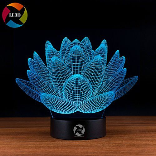 Amazon Reviews Le3d 3d Optical Illusion Desk Lamp 3d Optical Illusion Night Light 7 Color Led 3d Lamp Lotus 3d Led For Kid Flower Lights Led Color Lotus Plant