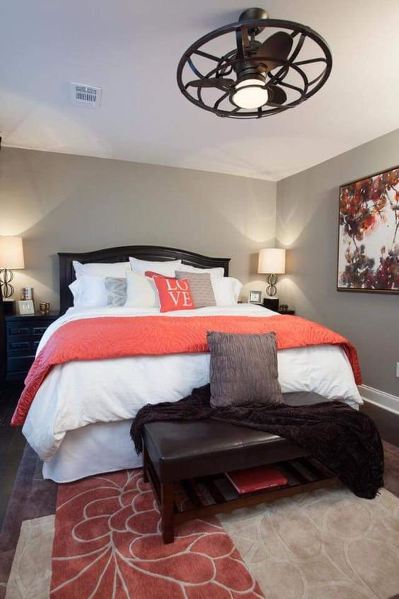 Coral Accents White Bedrooms And Ceiling Fans On Pinterest