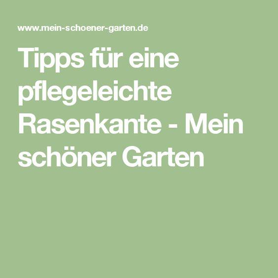 Tipps für eine pflegeleichte Rasenkante - Mein schöner Garten